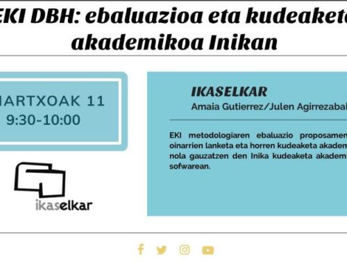EKI DBH: ebaluazioa eta kudeaketa akademikoa Inikan